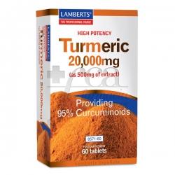 TURMERIC 20.000MG 60 TABLETS LAMBERTS
